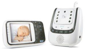 NUK 10256296 - Babyphone Eco Control+ Video, Full Eco Mode 100% frei von hochfrequenter Strahlung im Stand-by, Nachtsichtfunktion, Temperatursensor, Schlaflieder - 1