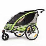 Qeridoo Sportrex 2 Kinder-Fahrradanhänger Seitlich
