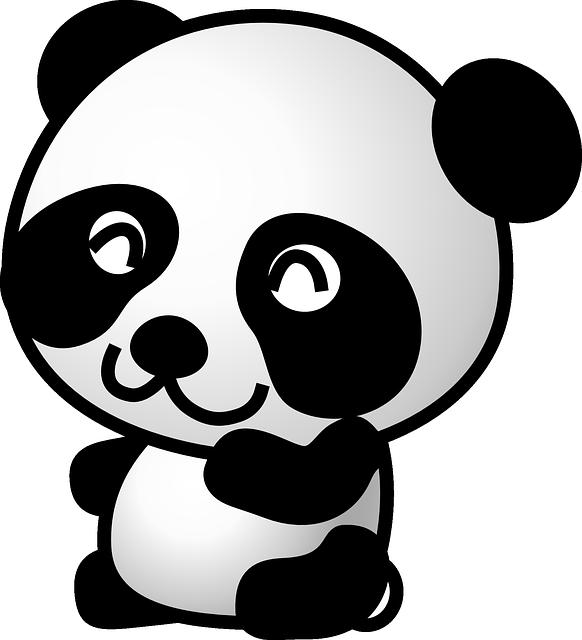 Ein flauschiges Pandababy das Logo von Baby Flauschwelt
