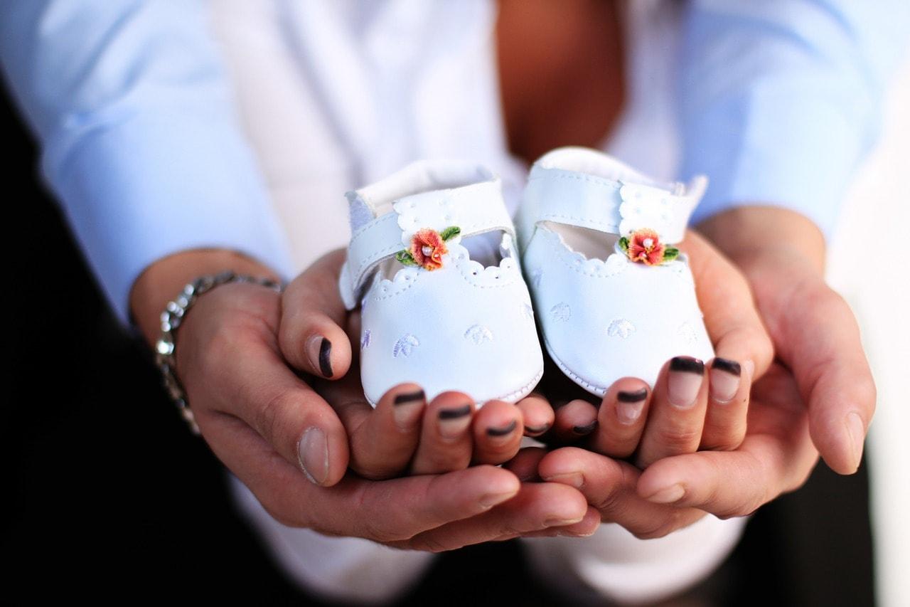 Hochzeit Paar Babyschuhe